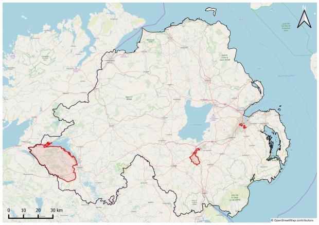 Census Rehearsal Areas - Northern Ireland